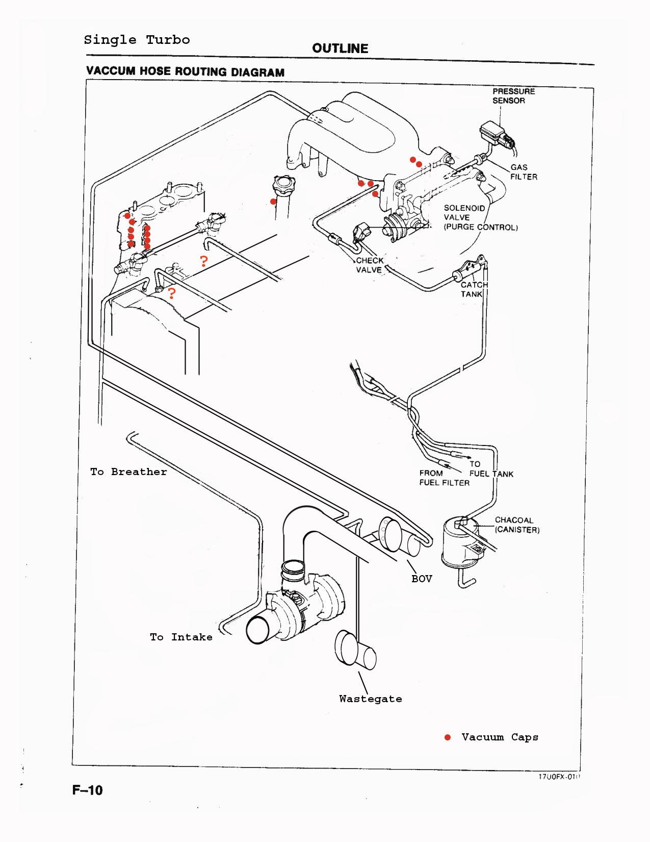 single vacuum hose diagram